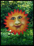 Deko-Sonne, Acryl auf Pappe, ca. 120 cm