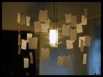 Lampenschirm-Objekt, Metall und Papier