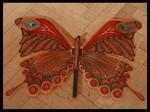 """beweglicher Schmetterling """"Die Werkstatt der Schmetterlinge"""", Acrylfolie, ca. 70x45 cm"""