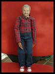 bewegliche Portrait-Puppe, ca. 30 cm
