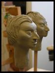 Modellköpfe für Marionetten, ca. 15 cm